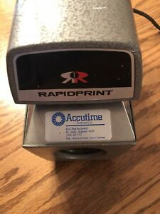 Rapidprint Ar e Are Date And Time Stamp Document Stamp Clean With Key Tested