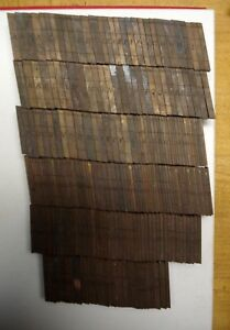 Ludlow Mats For Hot Type Letterpress 14 Point Font No Id Printing Lead Metal