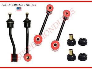 6pc Front rear Sway Bar Links Track Bar Bushings For 1997 2006 Jeep Wrangler