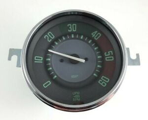 Vw Type 14 Karmann Ghia 1956 1966 110mm 6k Tachometer Vintage Series Green Face