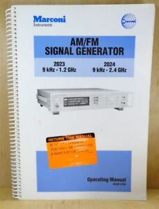 Marconi Am fm 2023 2024 Signal Generator Operating Manual