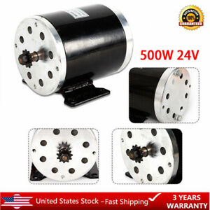 500 W 24 Volt Electric Motor Permanent magnet Brush Motor W Base For Scooter New