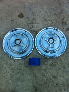 Set Of 2 Mercury 1967 68 Spinner Hub Caps Wheel Covers Hubcaps Free Shipping