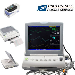 12 1inch Maternal Fetal Monitor Fhr Toco Twins Single Patient Meter oximeter Ups