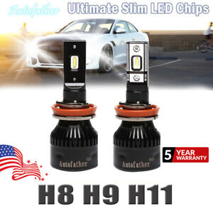 Pair H11 Cree Led Headlight Bulbs 1680 Watt 178000lm Car High Or Low Fog 6000k