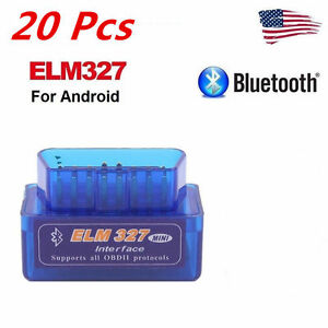 20x Mini Elm327 V2 1 Obd2 Obdii Bluetooth Adapter Auto Scanner Torque Androidw P