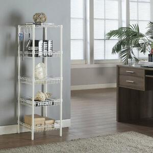 5 Tier Shelf Storage Wire Unit Shelving Rack Utility Garage Office Kitchen