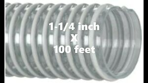 100ft Roll Of Kanaflex 100 Cl 1 1 4 Corrugated Clear Pvc Water Suction Hose
