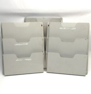Lot Of 3 Buddy Products 5210 32 Steel Wall File 3 Pocket 14 5 X 2 5 X 17 5