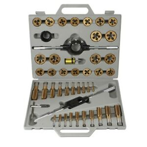 New Pittsburgh 45 Piece Sae Tap And Die Set With Case