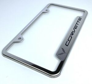 License Plate Frame For C7 Chevrolet Corvette laser Etched Premium Design