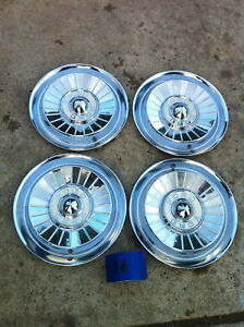 Nice Set Of Four 1957 Ford Galaxie Fairlane Hub Caps Wheel Covers Hubcaps