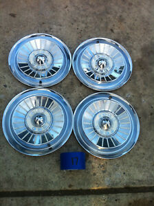 Nice Set Of Four 1957 Ford Galaxie Fairlane Hub Caps Wheel Covers Hubcaps B