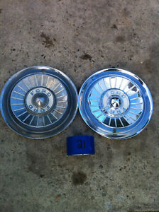 Set Of Two 1957 Ford Galaxie Fairlane Hub Caps Wheel Covers Hubcaps Set 21