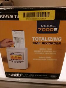 Lathem Calculating Time Recording Time Clock 7000e New In Sealed Box