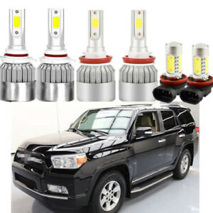 6x White Xenon Headlight Hi Low Beam Fog Light For Toyota 4runner 2010 2018