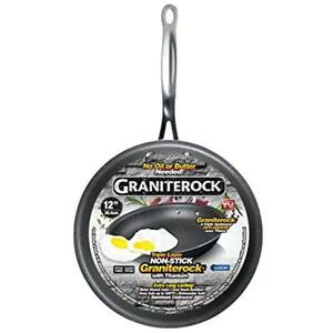 Graniterock All Pans Non stick No warp Mineral enforced Frying Pfoa free As On