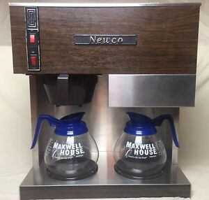 Newco Double Burner Commercial Business Coffee Maker Brewer 2 Glass Pots Rc 2