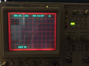 106 Hour Tektronix 2465b Oscilloscope tv Sync gpib Opts Refurbed