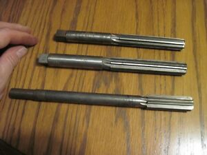 3 Vintage Usa Made Metal Reamers From Gunsmith Shop 23 32 11 16 And 5 8