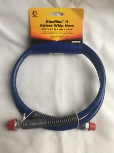 Graco Bluemax Ii Airless Paint Sprayer Whip Hose 3 16 X 4 5 238959