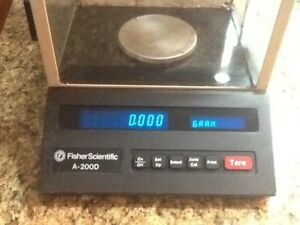 Fisher Scientific Scale A 200d Used Lab Equipment