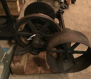 Antique Winch With Clutch Industrial Art Must See
