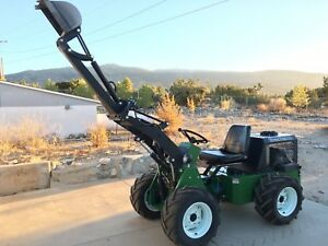 4wd Compact Tractor W Loader Backhoe Blade Plow digger Hydraulic Attachments