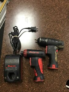 Snap on Cts561cl 1 4 Screwdriver And Snap on Impact Driver W Battery And Charg