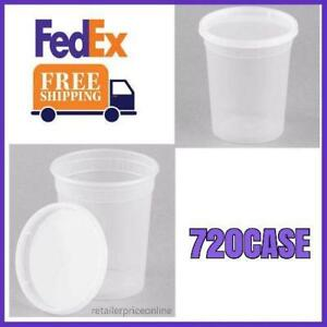 720 Case Plastic Deli Container And Lid Grocery Store Restaurant Take out