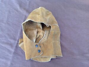Cool Vintage Suede Welding Hood Union Made Usa