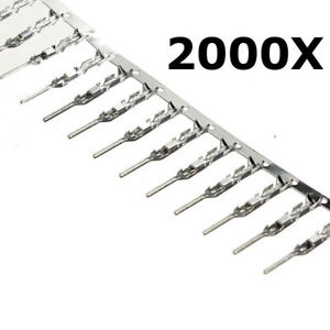 2000 Pcs 2 54mm Dupont Jumper Wire Cable Male Pin Connector Terminal