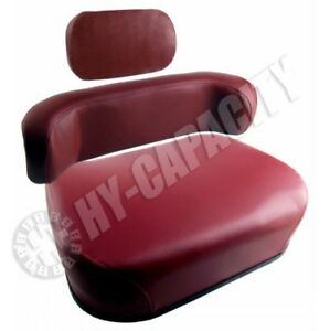 3 Pc Oliver Tractor White Wfe 2 85 2 105 Seat Maroon W Upper Back