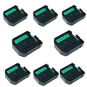 8pk M k721 Mk 721 Black On Green Label Tape For Brother P touch Pt 65sl 9mm 3 8