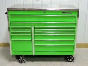 Snap On Krl1022 Extreme Green Tool Box Toolbox Stainless Steel Top