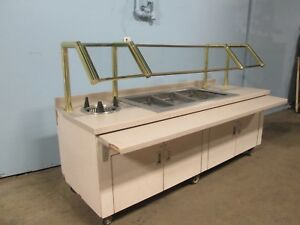 H d Commercial Refrigerated 93 w Cold Food Buffet Salad Bar Dessert Table