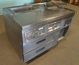 Commercial Ss Kitchen Line Expediter Prep Station delfield wells Hot cold