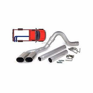 Banks Single Monster Exhaust W Dual Tips 2008 2010 Ford 6 4l Powerstroke Diesel