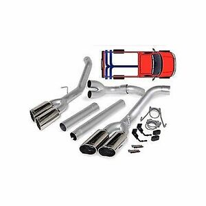 Banks Dual Monster Exhaust W Quad Tips 2008 2010 Ford 6 4l Powerstroke Diesel
