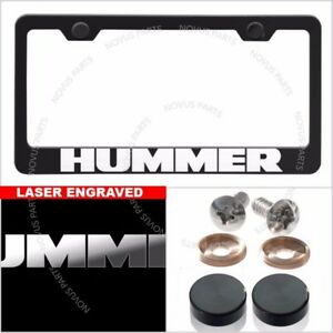 Fit Hummer License Plate Frame Laser Engraved Cover W Caps 100 Stainless Steel