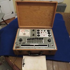 Superior Instruments Tv 12 Trans conductance Tube Transistor Tester See Pics