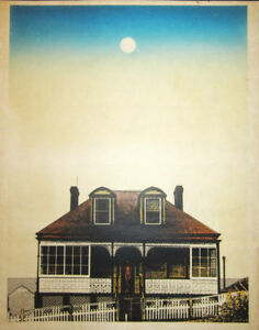 House And Nude By Hodaka Yoshida Japanese Woodblock And Photo Engraving