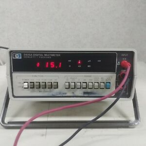 Used Hp 3435a Digital Multimeter 3 1 2 Digit Autoranging