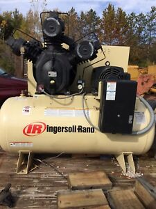 Ingersoll Rand Air Compressor Type 30 Model 15t Two stage 20 Hp 120 Gal Tank