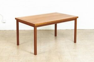 Danish Modern Dining Table Mid Century Teak Wood Table Wood Desk Vintage Mcm