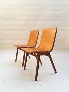 Set Bent Plywood Stacking Chairs By Ronald Rainer 1950 S Aalto Bill Eames Era