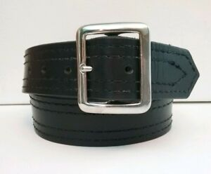Jay pee Belt Men s 32 Black Cowhide Leather Thick Heavy Duty Police security