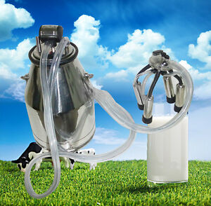 25l Cow Milker Bucket Tank Milking Machine 304 Stainless Steel For Farm Cow Usa