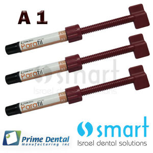 Lot X 3 Dental Parafil Zirconium Composite Universal Restorative A1 Syringes