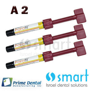 Lot X 3 Dental Parafil Zirconium Composite Universal Restorative A2 Syringes
